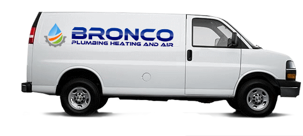 Bronco Plumbing Heating & Air Van